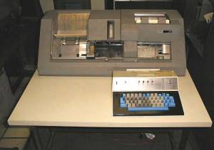 The famous IBM 029 card punch